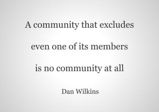 A community that excludes