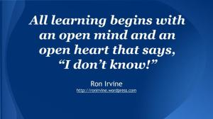 all learning begins